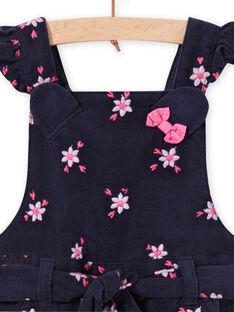 Salopette corta con stampa a fiori in velluto a costine bambina MIPLASAC / 21WG09O1SALC202
