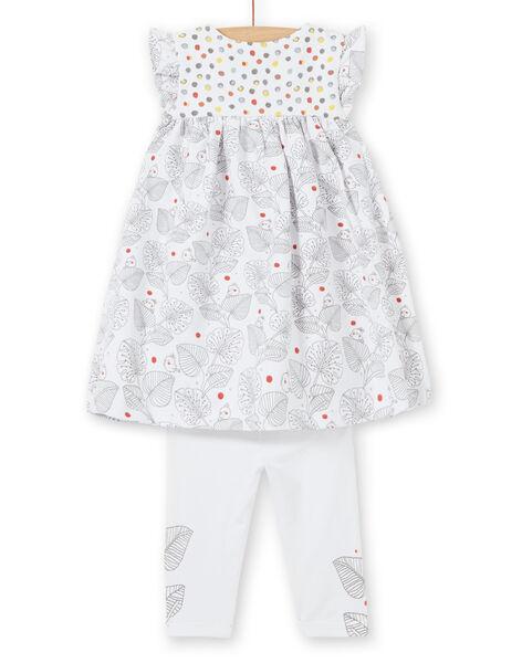 Completo abito con maniche corte e leggings neonata LOU1ENS1 / 21SF03H2ENS000
