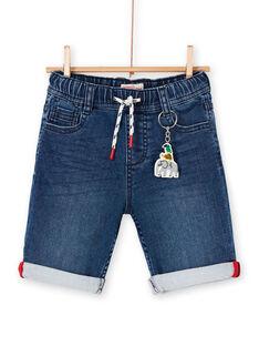 Bermuda in jeans blu bambino LOVIBER1 / 21S902U1BERP274
