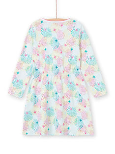 Camicia da notte bambina in jersey stampa multicolore LEFACHUSTA / 21SH1153CHN000