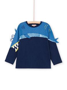 T-shirt blu con motivo squalo - Bambino LONAUTEE2 / 21S902P1TML070
