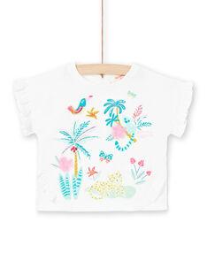 T-shirt a maniche lunghe ecrù neonata LIVERTIA / 21SG09Q1TML001