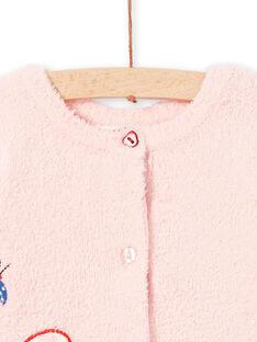 Cardigan 2 in 1 rosa neonata LICANCAR / 21SG09M2CARD326