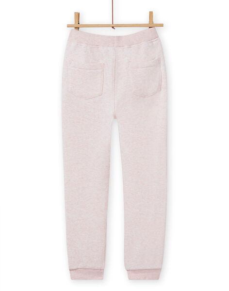Pantaloni sportivi rosa melange bambina MAJOBAJOG2 / 21W90111JGBD314