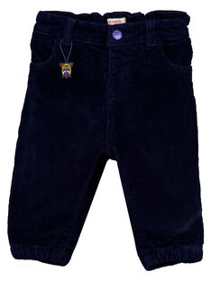 Pantaloni velluto blu notte neonato GUVIOPAN1 / 19WG10R2PAN713