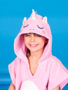 Mantellina da bagno rosa bambina LYAMERCAP / 21SI01D1CDBD310