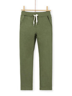 Pantaloni verdi in cotone bambino LOJOPAN2 / 21S90234PANG631