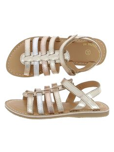 Girls' leather sandals CFSANDMET / 18SK35WID0E954