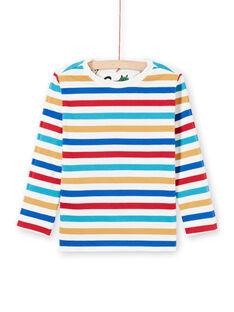 T-shirt bianca double face bambino MOMIXTEE1 / 21W902J1TML810
