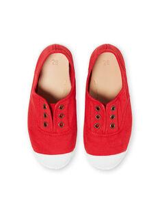 Sneakers rosse bambino FGTENRED / 19SK36B5D16050