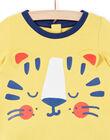 Pigiama giallo neonato LEGAPYJTIG / 21SH14C1PYJB116