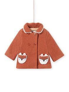 Cappotto in lana marrone motivo volpe neonata MICHECKMAN / 21WG0961MAN817