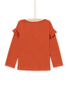 T-shirt caramello bambina MACOMTEE3 / 21W901L2TML420