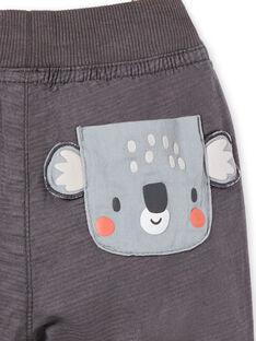 Pantaloni grigio scuro scuro neonato LUPOEPAN1 / 21SG10Y2PANJ916