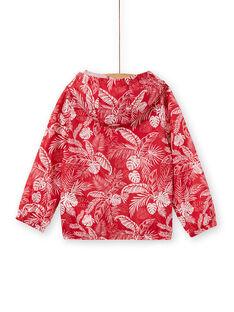 Giubbotto con cappuccio rosso e bianco bambino LOGROKA / 21S902R2BLO330