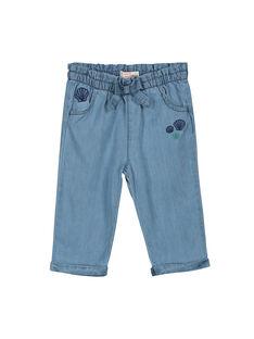 Pantaloni in tela di jeans neonata FINEPAN / 19SG09B1PAN721