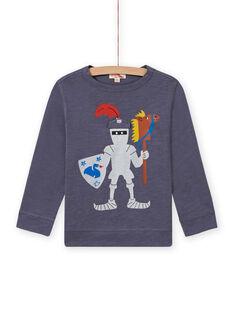 T-shirt grigia con motivo cavaliere bambino MOPLATEE4 / 21W902O3TMLJ902