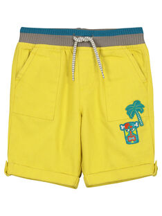 Bermuda comfort gialli bambino FOCUBER3 / 19S902N3BER114