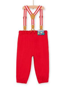 Pantaloni rossi e bretelle neonato LUVIPAN / 21SG10U1PANF515