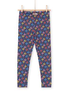 Leggings multicolore bambina LYAHALEG / 21SI01X1CAL070