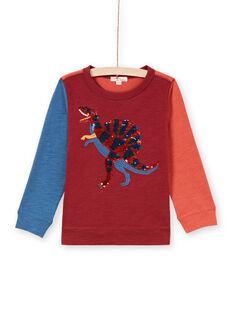 T-shirt rossa e navy bambino MOPATEE3 / 21W902H1TML719