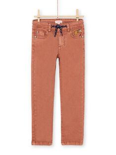 Pantaloni marrone chiaro bambino MOPAPAN / 21W902H1PANI802