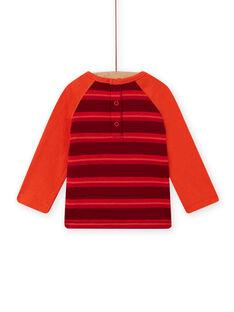 T-shirt corallo, rosso e marrone con motivo orsetto neonato MUFUNTEE2 / 21WG10M1TML504