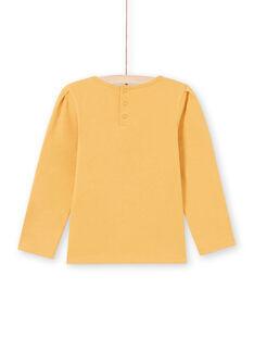 T-shirt a maniche lunghe senape con pizzo bambina MAJOSTEE3 / 21W9012BTMLB106