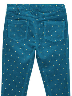 Pantaloni in velluto con stampa di glitter dorato chiaro GAMUPANT / 19W901F1PAN715