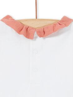 Body bianco e rosa neonata LOU1BOD4 / 21SF03H2BOD000