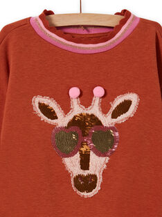 Felpa con motivo giraffa glitterato fantasia bambina MACOMSWEA / 21W901L1SWE420