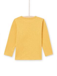 T-shirt gialla bambino MOSAUTEE1 / 21W902P3TMLB107