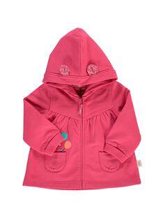 Baby girls' hooded sweatshirt CIJOJOH2 / 18SG09R2JGHF503