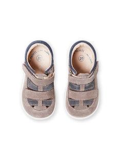 Scarpe baby grigie neonato LBGSALGREY / 21KK3831D13940