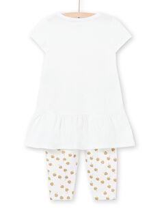 Pigiama bianco bambina LEFAPYJCOU / 21SH11C5PYJ001