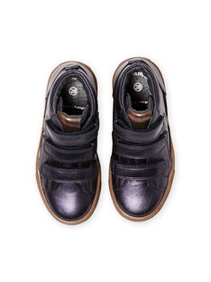 Sneakers alte navy metallizzate bambina MABASMETAL / 21XK3555D3F070