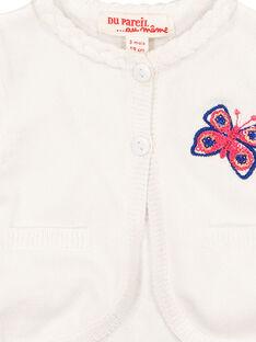 Cardigan bianco neonata FITOCAR / 19SG09L1CAR000