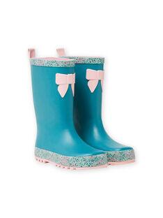 Stivali da pioggia con motivi a fiori  MAPLUINOEUD / 21XK3512D0C202