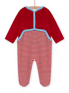 Tutina rossa in velluto con motivo montone neonato MEGAGREMOU / 21WH1493GREF526