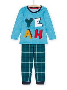 Set pigiama blu zaffiro motivo YEAH bambino MEGOPYJYEAH / 21WH1296PYJC211