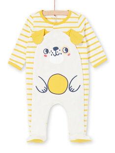 Tutina corredo bambino in jersey a righe motivo cagnolino LEGAGRECHI / 21SH1457GRE006
