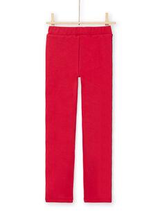 Pantaloni rossi a righe bambina MAJOMIL5 / 21W90114PAN511