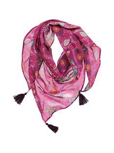 Girls' triangular scarf CYAGAUFOUL / 18SI01L1FOU099