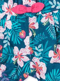 Shorts blu e rosa con stampa a fiori neonata LIBONSHO / 21SG09W1SHO716
