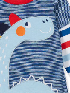 T-shirt blu e rossa neonato LUCANTEE3 / 21SG10M3TML707