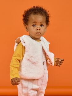 Gilet senza maniche ecrù in finta pelliccia neonata MISAUCAR1 / 21WG09P1CAR001