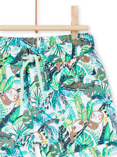 Bermuda con stampa giungla verdi neonato LUVERBER1 / 21SG10Q1BER001