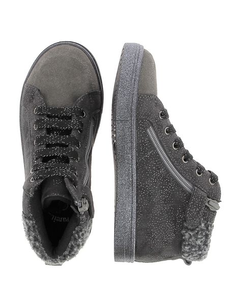 Girls' leather city trainers DFBASMID / 18WK35TCD3F940