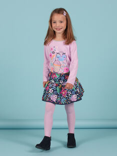 Gonna double face blu notte con stampa a fiori bambina MAPLAJUP1 / 21W901O1JUPC202