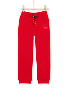 Pantaloni sportivi - bambino - rosso LOJOJOB4 / 21S90244JGB050